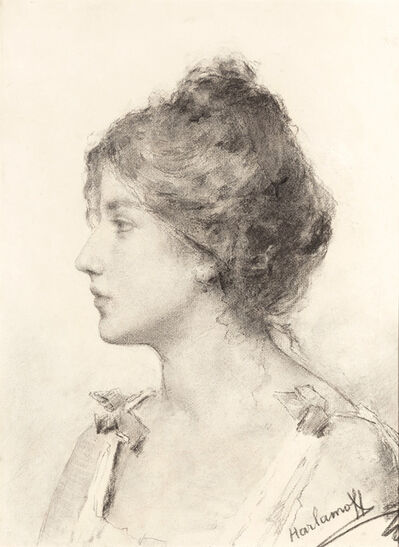 Alexej Alexejewitsch Harlamoff, 'Portrait d'une Jeune Femme'