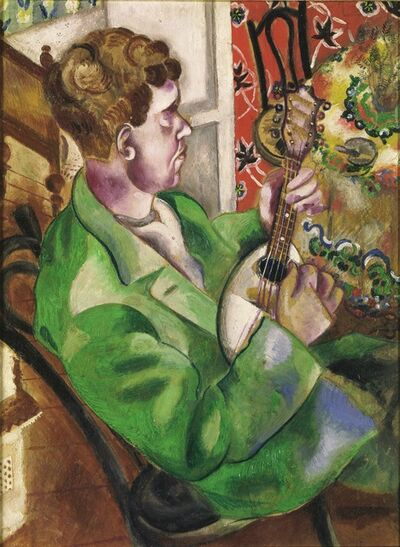 Marc Chagall, 'The Mandoline Player (David, the Artist's Brother, Playing the Mandolin)', 1914-1915