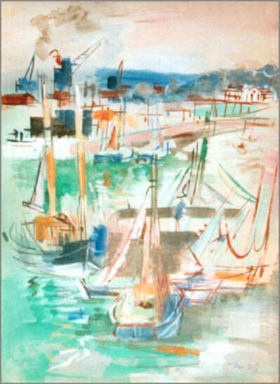 Jean Dufy, 'Honfleur, le quai de la Planchette et le jetee de Transit', 1939