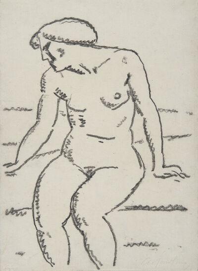 Alexej von Jawlensky, 'Nu assis avec le visage de profil', 1912