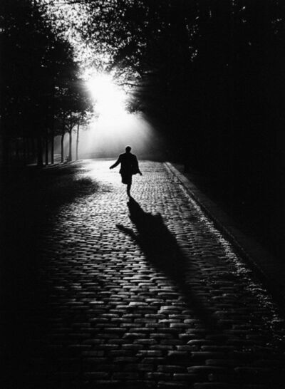 Sabine Weiss, 'L'homme qui court, Paris', 1953 (printed later)