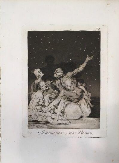 Francisco de Goya, 'When the day breaks we will be off', 1799