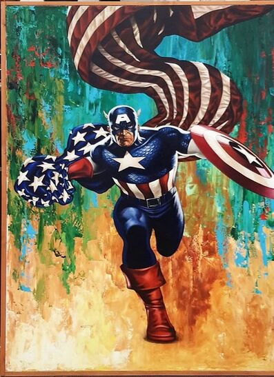 Giovanni Confortini, 'Super Hero, Captain America', 2017