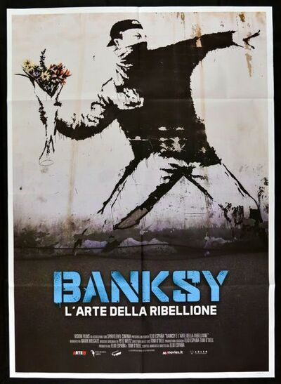 Banksy, 'Banksy L'Arte della Ribellione Original Folded Italian Lithographic Movie Poster (two black magnets not part of the poster)', 2020