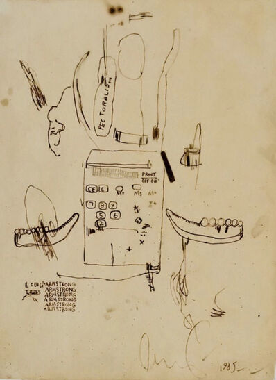 Jean-Michel Basquiat, 'Untitled (Louis Armstrong) 1985', 1985