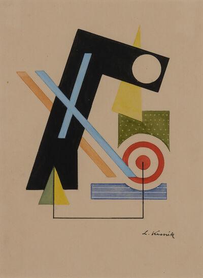 Lajos Kassák, 'Constructivist Composition', 1921