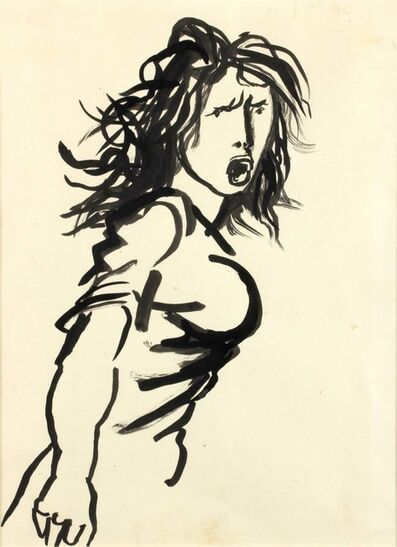 Renato Guttuso, 'Girl screaming (The protest)'