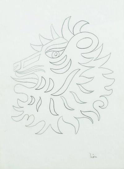 Jean Cocteau, 'Lion (Etude pour un bijou des signes du zodiaque pour la maison FRED)', circa 1960