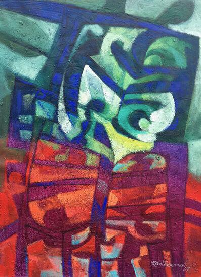 Raul Pozo Enmanuel, 'Forma en rosa y verde II', 2007