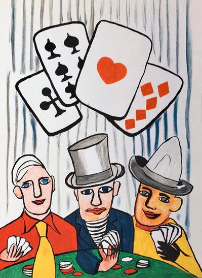 Alexander Calder, 'Card players, from Derriere Le Miroir', 1975