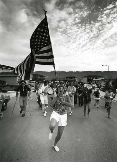 Bill Owens, 'Untitled (parade woman holding flag)', 1971