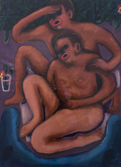 Conny Maier, 'Badende/the newlyweds', 2019