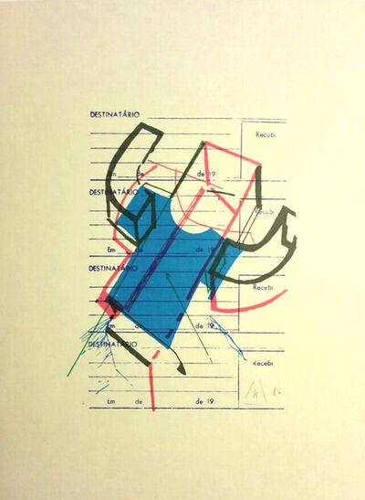 Martin Kippenberger, '23 Four-color Suggestions for the Improvement of the Backstroke Swimmer. (23 Vierfarbenvorschlaege für die Modernisierung des Rueckenschwimmers)', 1986