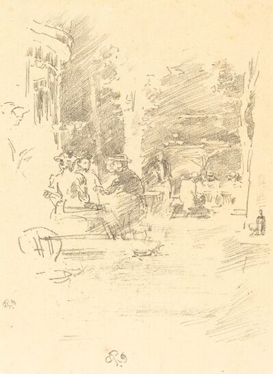 James Abbott McNeill Whistler, 'The Little Cafe au Bois', 1894