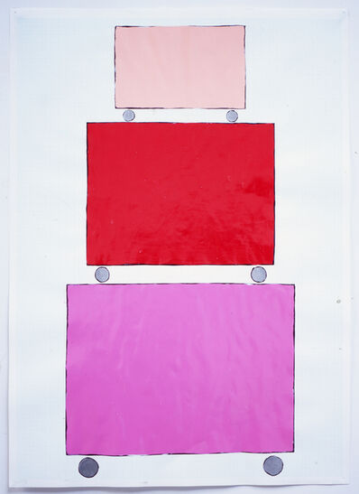 David Batchelor, 'Three Dollies - Stacked (pink)', 1999