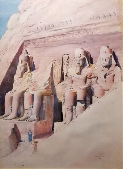 Joseph Lindon Smith, 'Temple of Abu Simbel', 1899