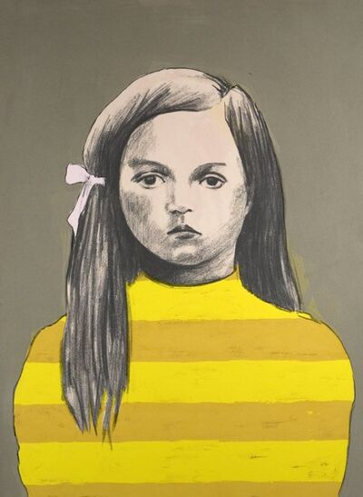 Claerwen James, 'Girl 3, Yellow Stripes', 2010