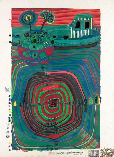 Friedensreich Hundertwasser, 'Slow Travel Under the Sun', 1969
