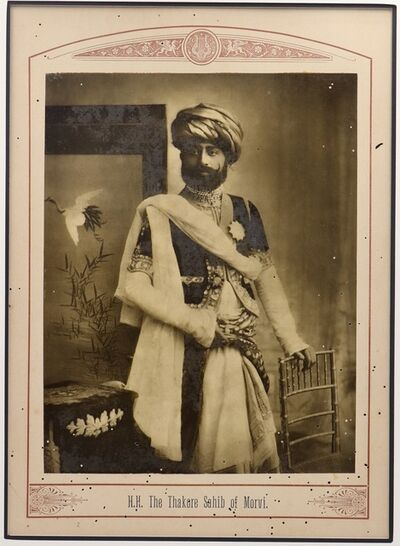 Raja Deen Dayal, 'The Thakore Shahib of Morvi', ca. 1890