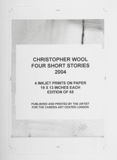 Christopher Wool, 'Four Short Stories(4 parts)', 2004