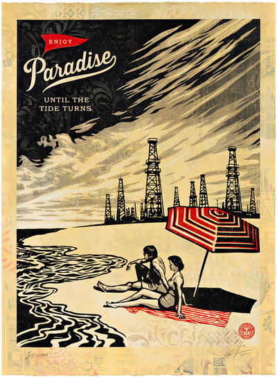 Shepard Fairey, 'Paradise Turns (HPM)', 2005
