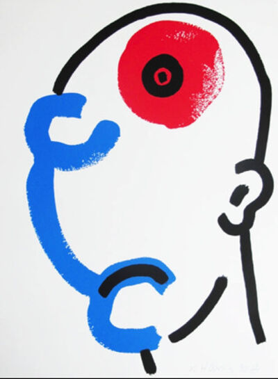 Keith Haring, 'The Story of Red and Blue XIII', 1989