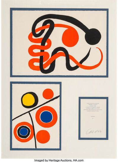 Alexander Calder, 'Derrière le miroir, set of five', 1973