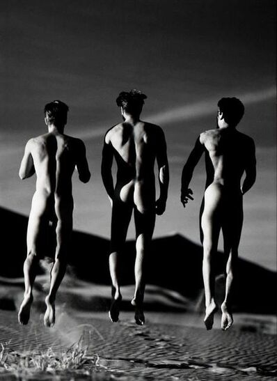 Greg Gorman, 'Three Boys Jumping, Kelso Dunes', 1991
