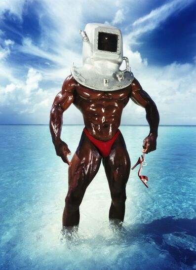 David LaChapelle, 'Man with Diving Bell and Shoe', 1995