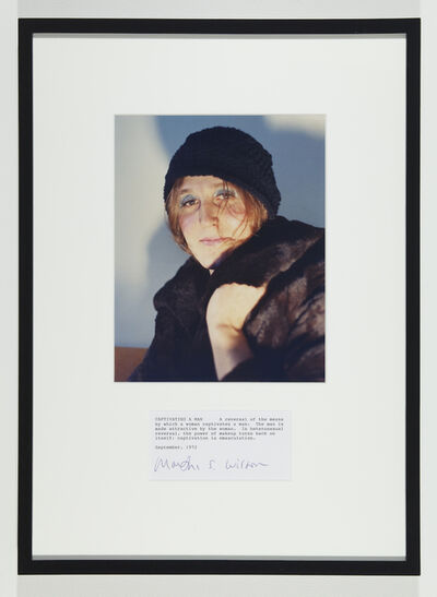 Martha Wilson, 'Captivating a Man', 1972