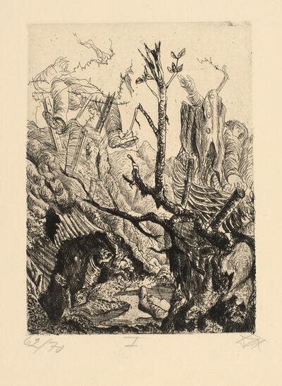 Otto Dix, 'Verlassene Stellung bei Neuville', 1924