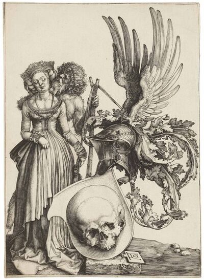 Albrecht Dürer, 'Coat of Arms with a Skull (B. 101; M., Holl. 98; S.M.S. 37)', 1503