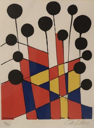 Alexander Calder, 'Mosaique Et Ballons Noir', 1971