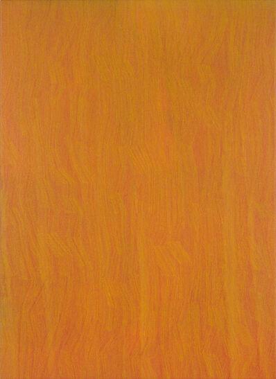 Karl Wiebke, '49-17 Yellow on Orange', 2017