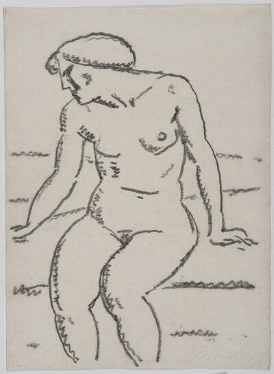 Alexej von Jawlensky, 'Si tzemder akt mit gesich im profil', 1912