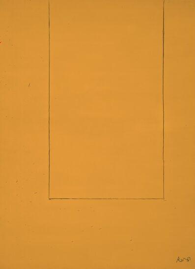Robert Motherwell, 'Open No. 1: In Yellow Ochre', 1967