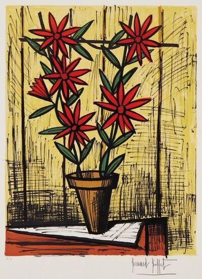 Bernard Buffet, 'Marguerites Rouges (Red Daisies)', 1983