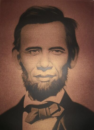 Ron English, 'Obama Lincoln Brown', 2008