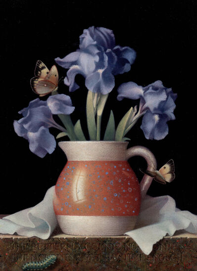 Koo Schadler, 'Blue Irises and Butterflies', 2018