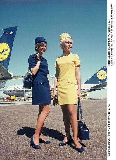 Werner Machnik, 'Flight attendant uniforms, Lufthansa', 1970