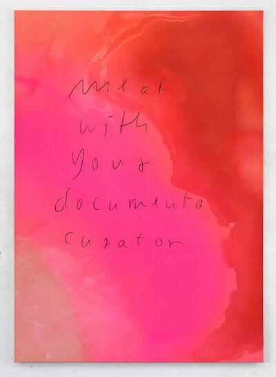 Jürgen Drescher, 'meat with your documenta curator', 2018