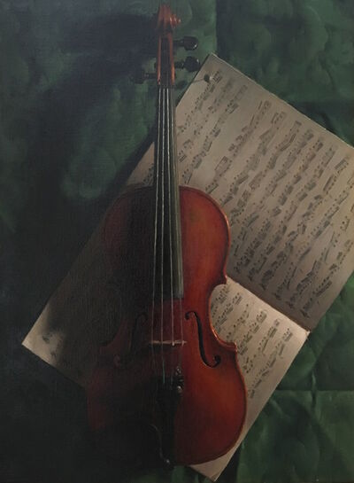 Jacob Collins, 'Violin and Music', 1996