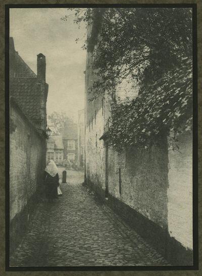 E. Sergysels, 'Nun in a Small Street in Belgium', ca. 1915