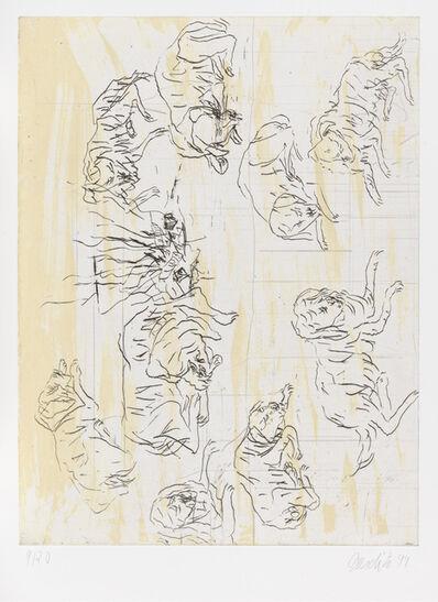 """Georg Baselitz, 'Schlafende Hunde II, from """"Schafende Hunde""""', 1998-1999"""