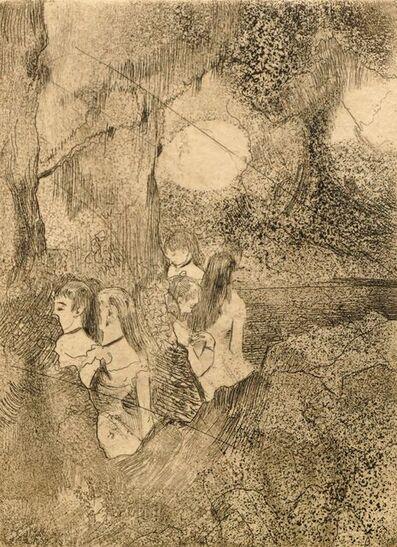 Edgar Degas, 'Danseuses dans la coulisse', c.1877