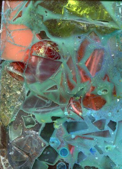 Samara Scott, 'Backwater (broken glass, cistern bloo, milk, sandwich bags, necklace, clingfilm, bedroom floor sweepings, hair gel, bingo chips, sellotape, noodles)', 2017