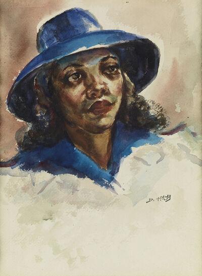 Dox Thrash, 'Blue Hat.', circa 1940-45
