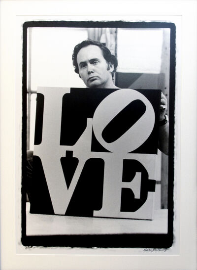 William John Kennedy, 'Robert Indiana Holding Love', 2010