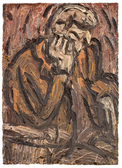 Leon Kossoff, 'John Asleep', 1987