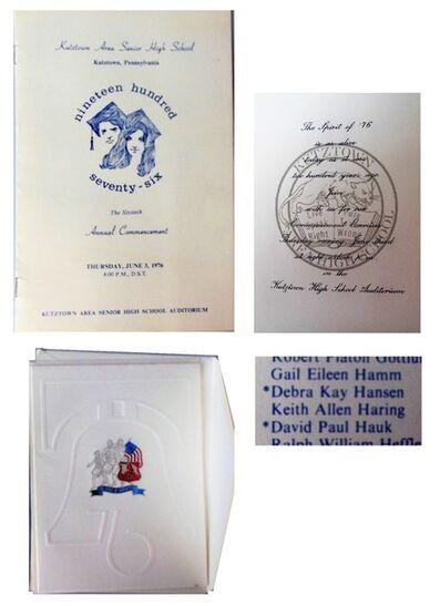 Keith Haring, 'Kutztown Area Senior High School, 1976, Graduation Commencement Program & Invitation, RARE', 1976